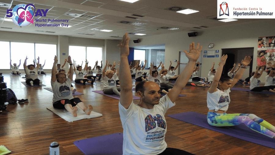 Clase solidaria de pilates de concienciación por el Día Mundial de la  Hipertensión Pulmonar b53e05e08dfc